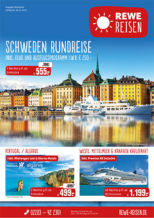 Reiseprospekt REWE Reisen August / September 2015