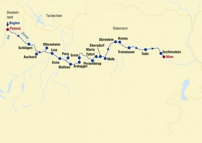 Donau-Radtour: Passau - Linz - Wien