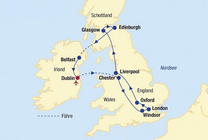 Britische Inseln Rundreise 187 Gro 223 Britannien Irland